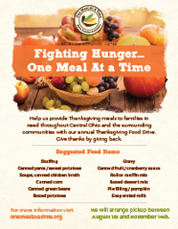 Byron Saunders FoundationFood drive flyer Preview