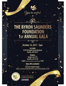 Byron Saunders Foundation 1st Annual Gala